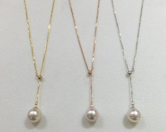 18kt gold necklace with high quality fresh water pearl