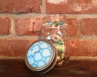 Pin cushion sewing storage mason jar