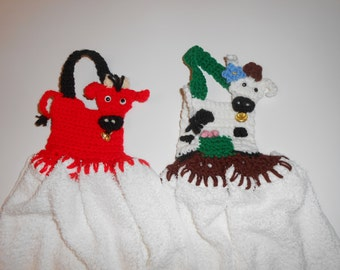 cow hand towels