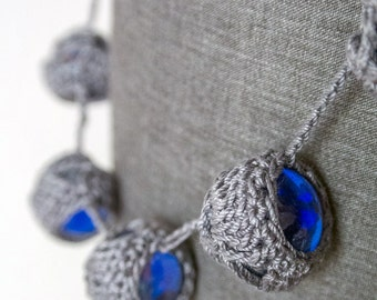Crochet marbles necklace