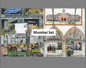 MUMBAI SUBURBS: Set of TWO Illustrations