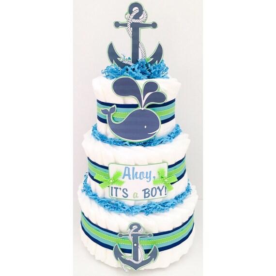 Diaper Cakes For Boys Nautical