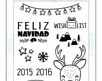 "Set of seals - ""Christmas 2015"""