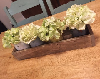 Rustic Wooden Box, Wood Box Centerpiece; Small Size; Reclaimed Pallet Wood, Wood Mantle Box