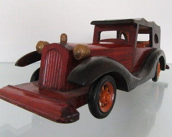 Sale! Wooden Vintage(?) Car