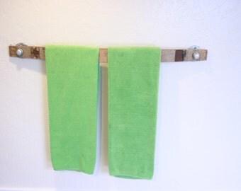 Wine Barrel Stave Towel Holder