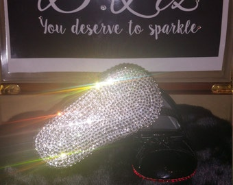 Baby Bling Flat Crib Shoes with Crystal Soles