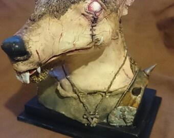 Fantasy Skaven inspired rat man bust one of a kind