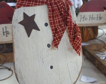 Snowman Tree Topper Sitter Rusty Spring Primitive Prim Prims Country Christmas Decoration