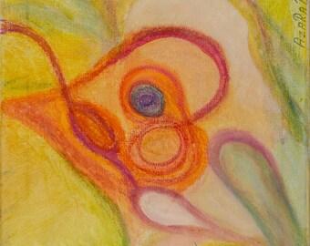 Magic Bird - oil painting on canvas