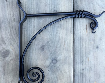 Garden Hanging Basket Bracket - Hand Forged
