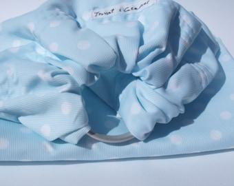 Blue polka dot Messenger bag