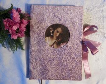 Little Osborn Velvet notebook / scrapbook vintage look