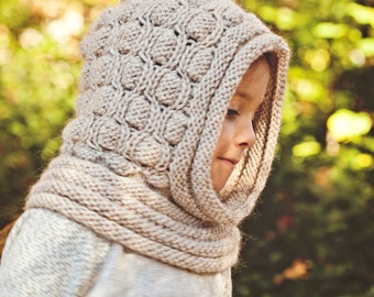 Knitting Pattern (pdf file) Instant Download - Cocoon Hooded Cowl
