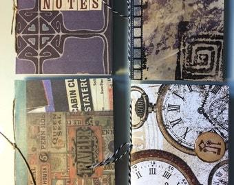 Mini notebooks -set of 4