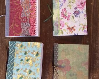 Mini notebooks - set of four