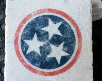 Tristar Nashville Coasters, Red White and Blue, Star, Tennessee, TN, Nashville Theme, Music City