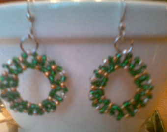 Wreath earrings.