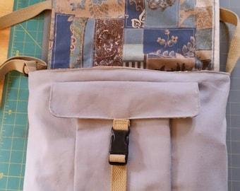 Cotton Canvas Messenger Bag