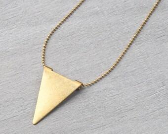 Geometric/minimal chain brass triangle