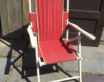 Antique Folding Deck Chair