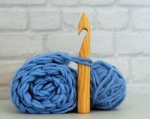 Handmade 25mm, 20cm long crocheting hook, extreme crocheting