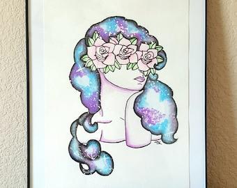 Galaxy Woman Painting