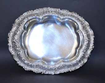 Tiffany Repousse Sterling Silver Bowl 10 1/2 '