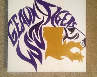 Geaux Tigers LSU painting
