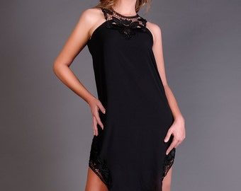 Lace Leg Dress