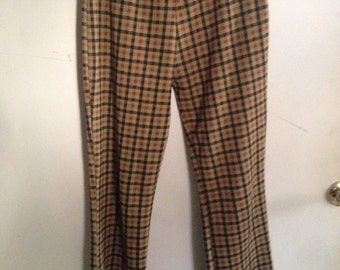 70s style plaid flares