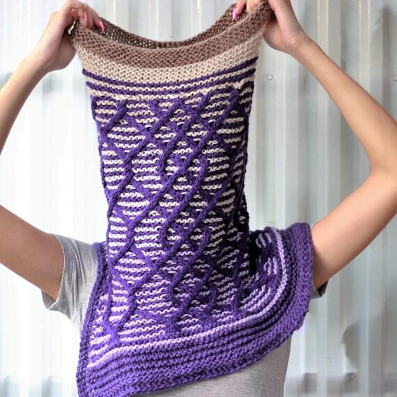 Pashmina Cowl Knitting Pattern : Knitting pattern Patron tricot PDF Cadence Cowl Shawl hand