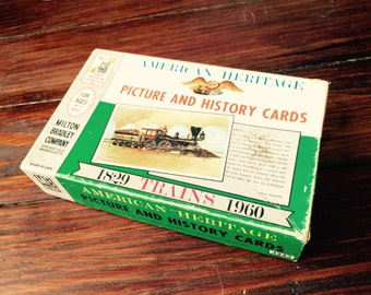 Vintage Train Picture and History Cards
