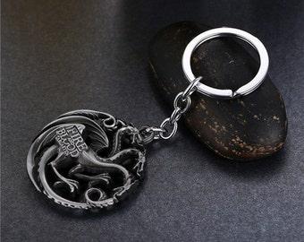 Game Of Thrones House Targaryen Keychain