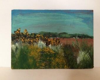 Original Landscape painting- Thurstaston scenery