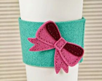 Handmade Cup Sleeves, Felt Cup Cozy, Felt Coffee Cozy, Felt Coffee Sleeves, Felt Coffee Cup Sleeves, Felt Cup Sleeves, Hot Cup Sleeves