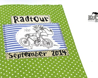 Bicycle photo album, notebook bike ride, gift cycling, Mini Album bicycle-motif, cycling-pictures cycling-diary, German handmade,