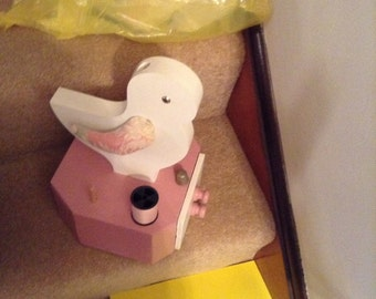 Figural chicken chick sewing caddy