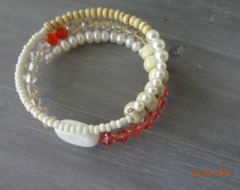 Sparkling Swarovski and freshwater wrap bracelet