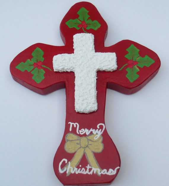 Religious Christmas Wall Decor : Christmas wood cross religious decor wooden wall by
