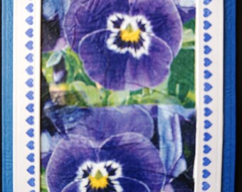 Birthday wishes - Say it with pansies