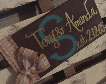 Custom Name and Date canvas