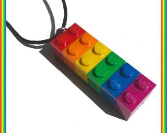 Rainbow Brick Necklace