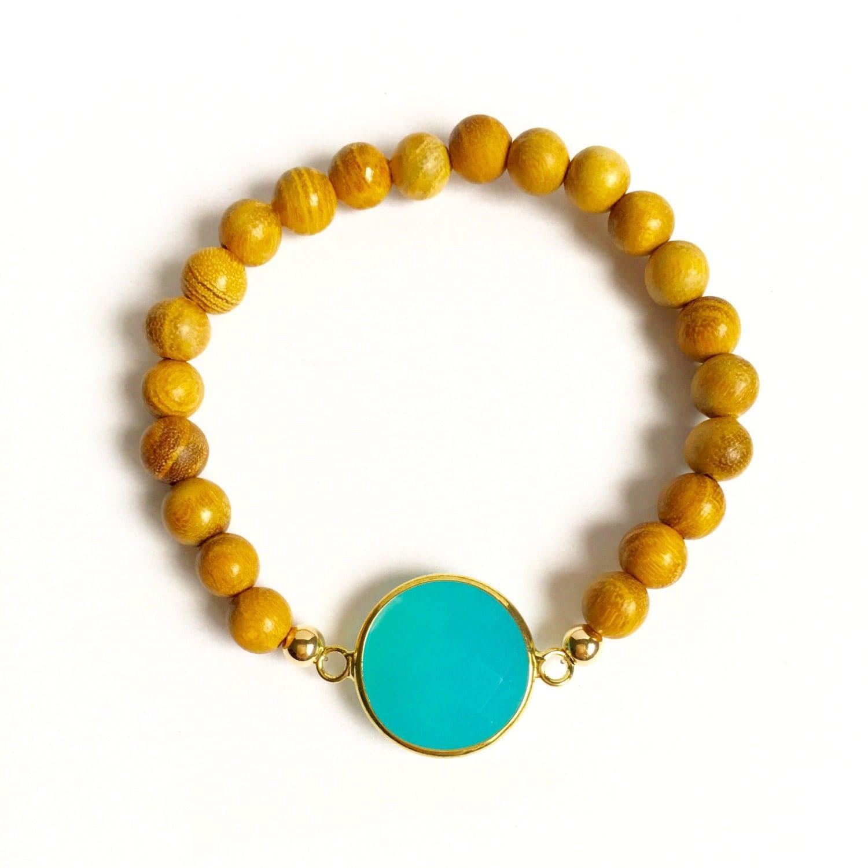 gemstone connector bracelet wood bead bracelets bracelet