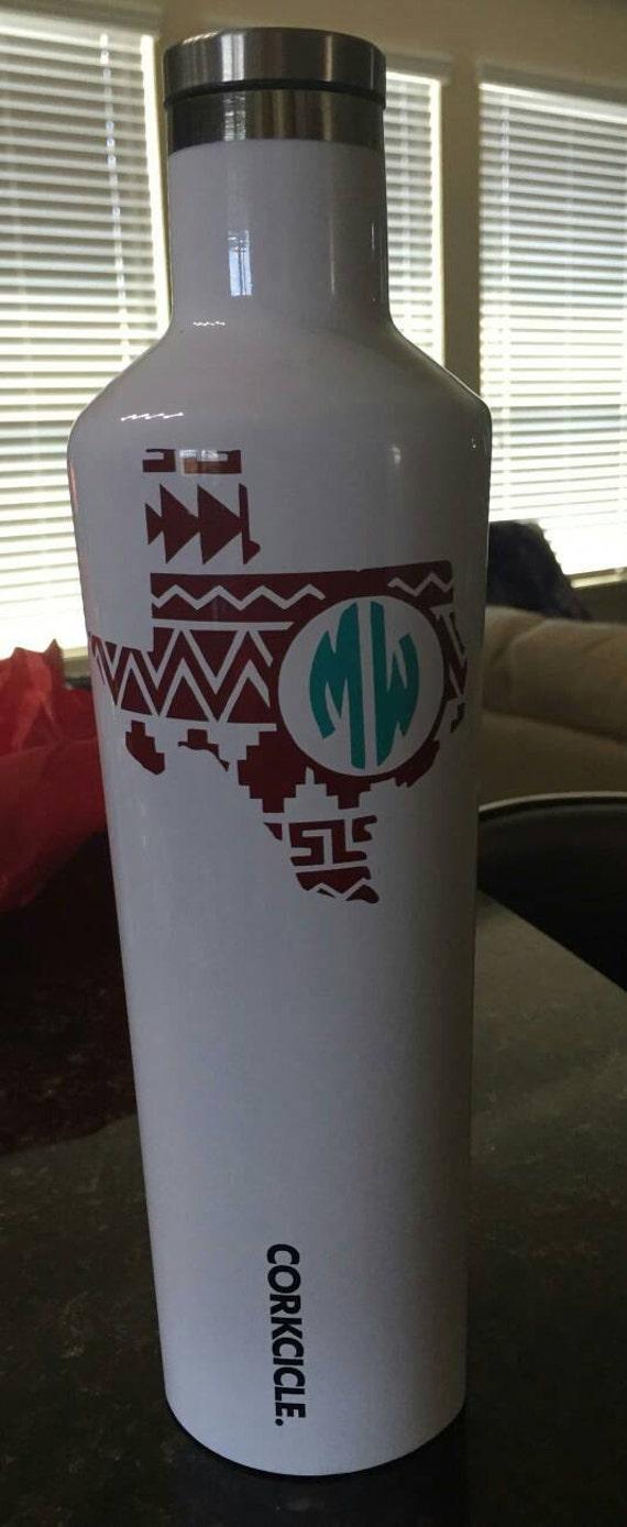 Aztec Texas with Monogram decal