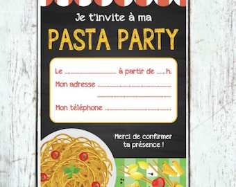 Pasta party card to download IMMEDIATELY
