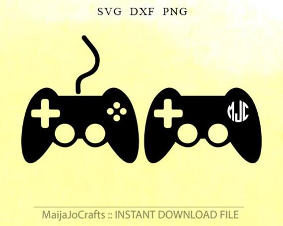 Game Controller Svg Game Controller Monogram Svg Digital
