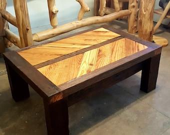 Rustic Reclaimed Wood Coffee Table, 100+ Year Old Wood, Barn Wood Coffee Table