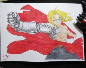Edward Elric manga Fullmetal Alchemist, format A3 poster