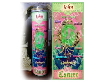 "Personalized Horoscope Zodiac Prayer Candle - 8"" -VIRGO"